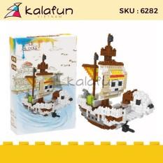 Đồ chơi lắp ráp Tàu chiến Đảo hải tặc One Piece Golden Merry Lele Brother 6282