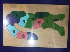 Tranh ghép cá sấu số học