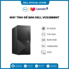 TRẢ GÓP 0%_FREESHIP| PC Máy tính để bàn DELL VOS3888MT i5-10400(6*2.9)/Ram 4GD4/HDD 1TB/5in1/WLn/BT4/KB/M/ĐEN/W10SL/ProSup/1Y