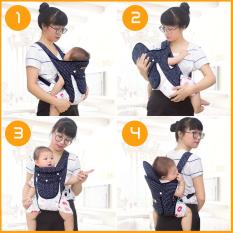 Đai địu vải MÙA HÈ thoáng mát cho em bé sơ sinh, trẻ em 36 tháng tuổi, 4 tư thế có đỡ cổ, an toàn ngồi xe máy – MySun