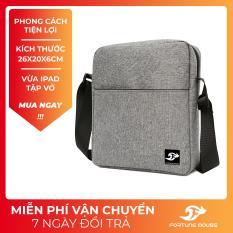 Túi đeo chéo vải bố xước đựng ipad phong cách CB001 Fortune Mouse