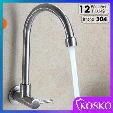 Vòi rửa chén inox 304 KOSKO (Bảo hành 12 tháng, 1 đổi 1 trong 15 ngày) Phù hợp với mọi loại chậu rửa chén