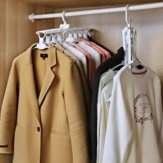 Móc đồ thông minh kiểu Nhật (có thể xếp lại, treo được 8 chiếc áo quần) (giao màu ngẫu nhiên)