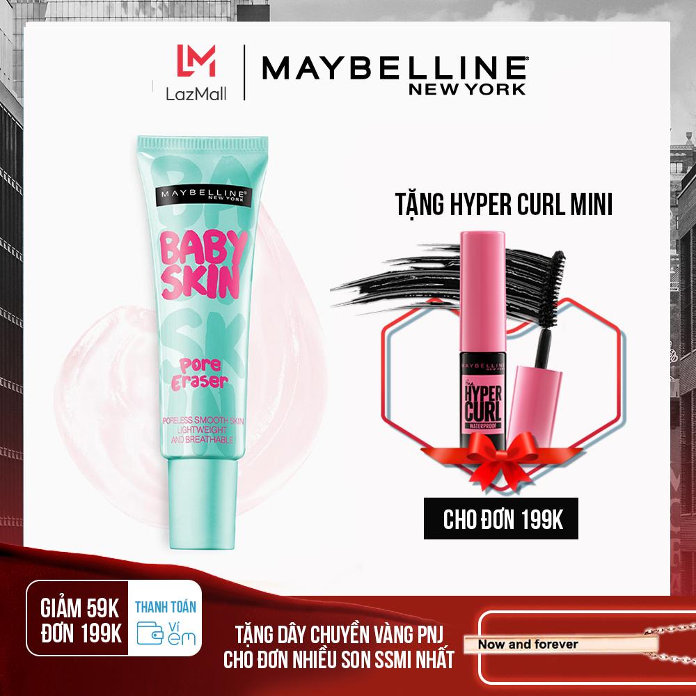 [Thanh toán ví eM giảm 39K đơn 169K] Kem lót mịn da che khuyết điểm Maybelline New York Baby Skin Pore Eraser 22ml