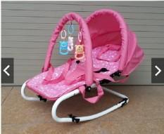 Ghế rung cao cấp ăn bột cho bé – Có bảo hiểm + đồ chơi + mái che + điều chỉnh nằm ngồi