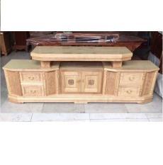 Kệ tivi gỗ sồi nga kiểu Tân cổ