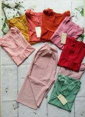 đồ bộ _ đồ bộ đũi lửng áo phối ren siêu cute vs48 vanshop92423