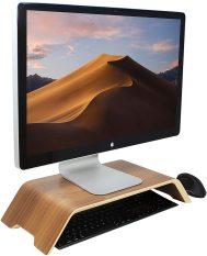 Kệ màn hình máy tính gỗ uốn cong Imac Stand – Veneer Walnut (Bản cao cấp)