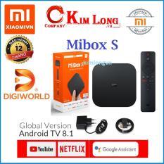 Android Tivi Box Xiaomi Mibox S Ultra HD Quốc Tế Tiếng Việt – Chính hãng DiGiWorld phân phối