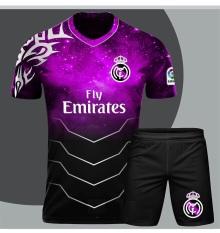 Bộ áo bóng đá Real tím chế galaxy đẹp 2021