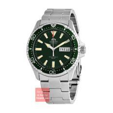 Đồng hồ nam dây thép Orient Mako III RA-AA0004E19B size 42mm dây thép vỏ thép không gỉ chống nước 200m trữ cót 40 tiếng
