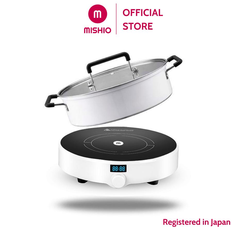 Bếp Điện Từ Đơn Mishio MK218 1500W kình chịu nhiệt tốt – Tặng Kèm Nồi Lẩu MK218A