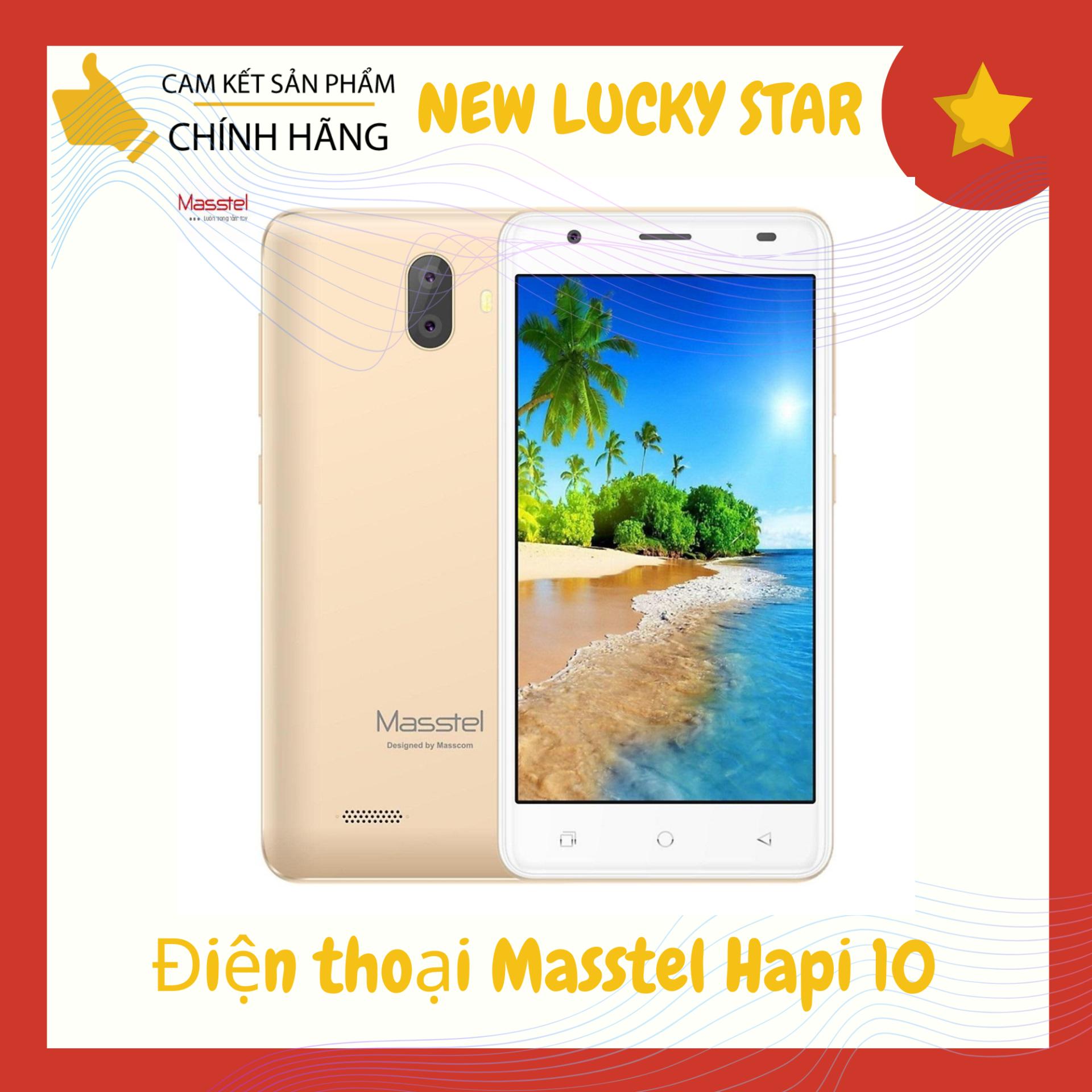 Điện thoại Masstel Hapi 10 (2GB/16GB) – Hàng chính hãng – Màn hình 5 inch IPS HD, Màn hình cong 2.5D, 2 sim 2 sóng, camera 5MP, pin 2.000mAh – Bảo hành 12 tháng