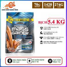 Sữa tăng cân tăng cơ Premium Mass Gainer của Muscle Tech bịch lớn 5.4 kg hỗ trợ tăng cân, tăng cơ nạc nhanh cho người tập GYM và chơi thể thao, dễ hấp thu, không kén người dùng – thuc pham chuc nang