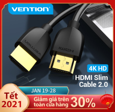 Vention dây cáp HDMI 2.0 4K Slim HDMI to HDMI 2.0 HDR 4K 60Hz 1m 2m 3m cáp HDMI kết nối tivi for Splitter Extender 1080P Cable For PS3 PS4 HDTV Laptop Projector Cáp HDMI 2.0 Cable