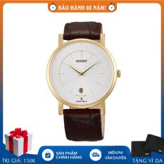 Đồng hồ nam dây da Orient FGW01008W0 quartz, bảo hành 3 năm chính hãng, chống nước, chống xước