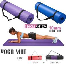 Thảm tập gym, yoga TPE 10mm cao cấp loại 1 tặng túi xịn + dây buộc thảm