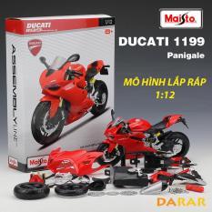 MÔ HÌNH LẮP RÁP xe Moto Ducati 1199 Panigale – Maisto tỷ lệ 1:12