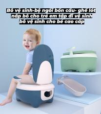 Bô vệ sinh bệ ngồi bồn cầu ghế lót nắp bô cho trẻ em tập đi vệ sinh, bô vệ sinh cho bé cao cấp