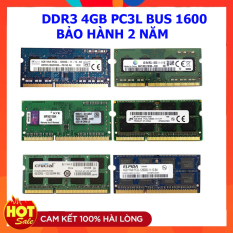 Ram laptop DDR3L 4GB Bus 1600 PC3L 12800 Samsung Hynix Micron Elpida Kingston…