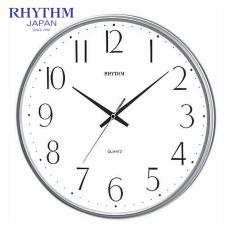 Đồng hồ treo tường Rhythm CMG817NR19 Value Added Wall Clocks (Bạc)