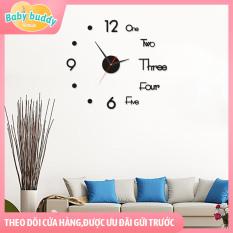 [Trang trí nhà cửa] Đồng hồ treo tường Arylic 3D, đồng hồ treo tường DIY tĩnh, trang trí tường, xem giờ, làm đẹp phòng khách