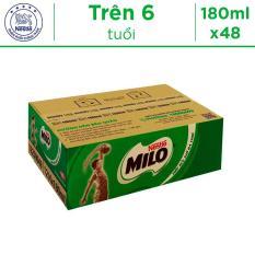 Thùng 48 Hộp Thức Uống Lúa Mạch Uống Liền Nestlé MILO 180ml – 12 lốc x 4 hộp x 180ml