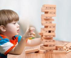 Đồ chơi rút gỗ loại to 48 thanh và rút gỗ màu – xếp domino xả stress