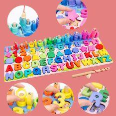 Bảng học chữ cái tiếng anh và chơi trò chơi 5 tầng, giúp bé làm quen với những con số, tập dần việc đếm các số và chữ cái tiếng Anh sắc cơ bản