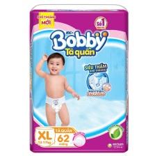 Tã Quần Bobby L68, XL62 Siêu Siêu Lớn