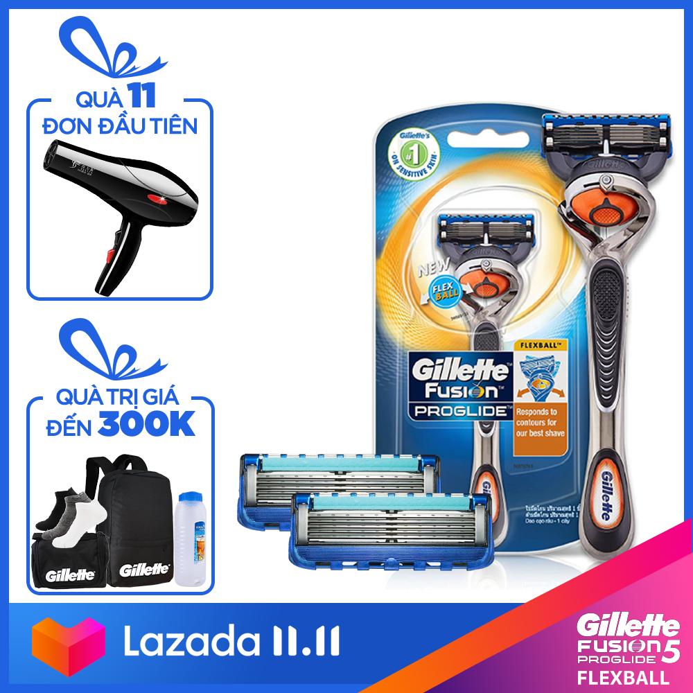[11.11 Tặng Balo Gillette+Bọt cạo râu+ Vớ Muji] Combo dao cạo râu Gillette Fusion5 Proglide Power (kèm 2 lưỡi cao cấp)