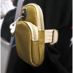 Túi Đeo Tay, Bao Đựng Điện Thoại vải bố (19,5cm x 11cm) – Màu be