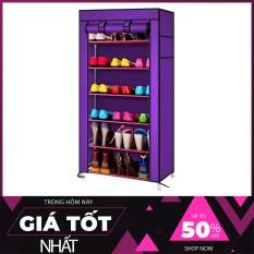 Tủ đựng giầy dép 7 tầng 6 ngăn Giá Tốt 360, [BÁN CHẠY] Tủ vải để giày dép đa năng – Tủ Vải Đựng Giày 7 Tầng 6 Ngăn/tủ vải đựng giày, kệ để giày 7 tầng đa năng, kệ để đồ tiện dụng giá rẻ