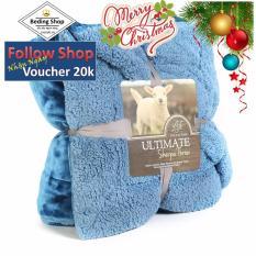 Chăn lông cừu tuyết Ultimate Sherpa Throw 2 x 2,3 m (xanh dương)