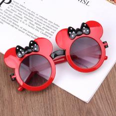 Kính cho bé gái 2-10 tuổi siêu đáng yêu chống bụi và tia UV, Mắt kính mát trẻ em thời trang hình chuột Mickey_HANG1KMSMS50