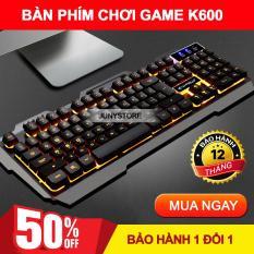 Bàn phím cơ chơi game, Bàn phím Led, Bàn phím cơ chơi game K600. Bàn phím máy tính để bàn.Bảo hành 1 đổi 1 bởi JUNYSTORE