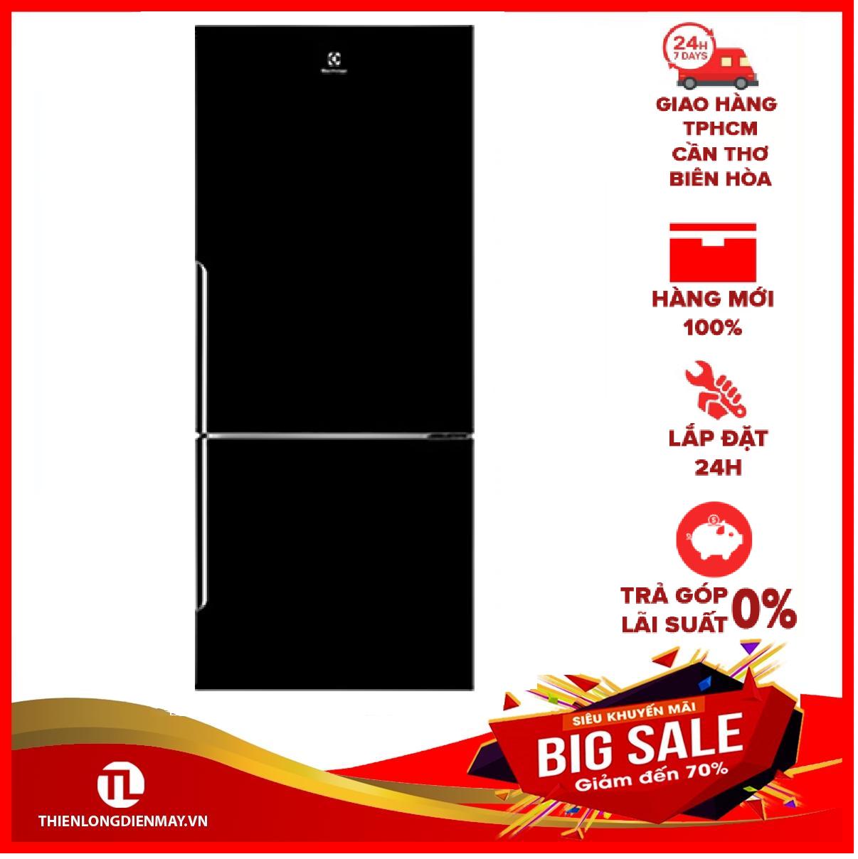 [Trả góp 0%]Tủ lạnh Electrolux 421 lít EBE4500B-H