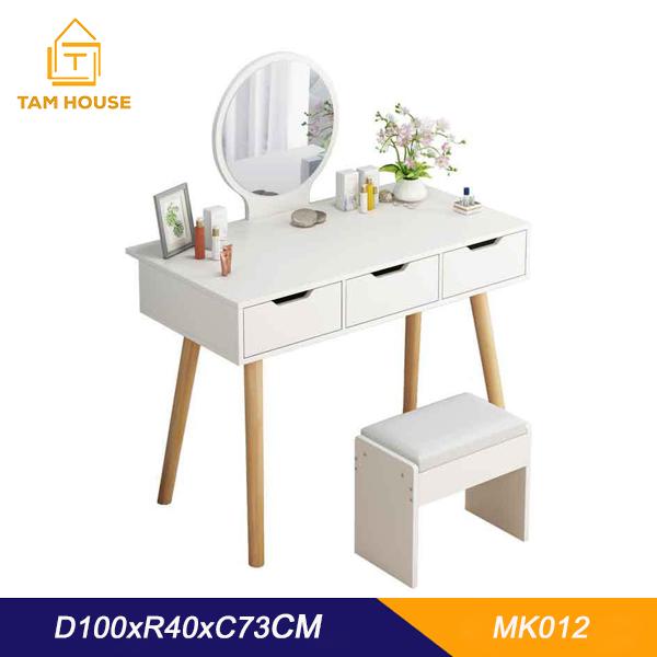 Tâm House Bàn trang điểm bệt mini nhiều ngăn kéo cao cấp- MK12