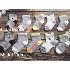 set 5 tất lưới cổ cao loại đẹp cho bé- có túi zip (0-2 tuổi)