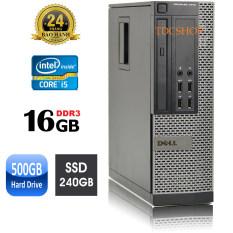 Thùng máy tính để bàn DELL optiplex 7010 core i7 3770, ram 16GB, SSD 240GB, HDD 500GB. Hàng Nhập Khẩu
