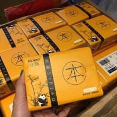 Thùng 30 gói giấy gấu trúc SIPIAO, hàng loại 1 gói 300 tờ không chứa chất tẩy trắng mềm, dai và không có mùi