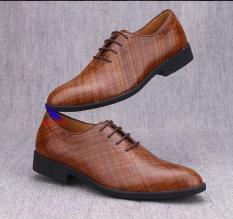 [CÓ VIDEO, ẢNH THẬT] Minh Nhân – Giày Tây nam da bò Oxford Shoes giày buộc dây công sở nam giày tây nam giá rẻ da bò cao cấp Đẹp Thời trang Cao cấp Hàng Hiệu Mẫu mới nhất B-4 màu nâu
