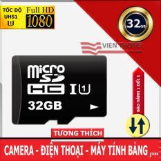 Thẻ nhớ 32GB UHS1 U1 tốc độ cao MicroSDHC Class10 Bảo hành 12 tháng 1 đổi 1