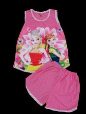 Đồ Bộ thun lạnh công chúa elsa cho bé gái từ 30-45kg cực thoải mái và mát mẻ cho mùa hè, nova shop