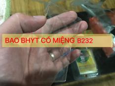 Set 5 cái vỏ bọc nhựa dẻo trong đựng thẻ bảo hiểm y tế (có nắp đậy) 5B232