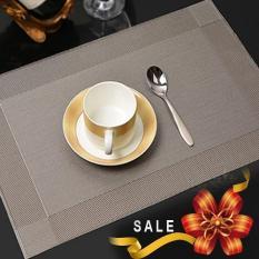 Bộ 4 tấm khăn lót chén dĩa bàn ăn (Màu xám)