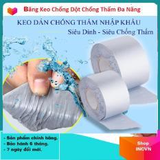 Băng Keo Siêu Dính Đa Năng, Keo dán chống thấm đa năng cho tường, trần nhà, mái tôn, ống nước, bể nước, xô chậu, phao bơi, bể bơi, đồ bơm hơi