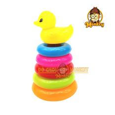 Đồ chơi thông minh giúp bé phát triển trí tuệ – đồ chơi xếp tháp vòng vịt vui nhộn cho bé – HT710 – Đồ chơi trẻ em Monkey