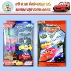 Đồ chơi trẻ em – Xe ô tô đồ chơi chạy trớn bằng nhựa 8 chiếc nhiều màu cho bé 5102A
