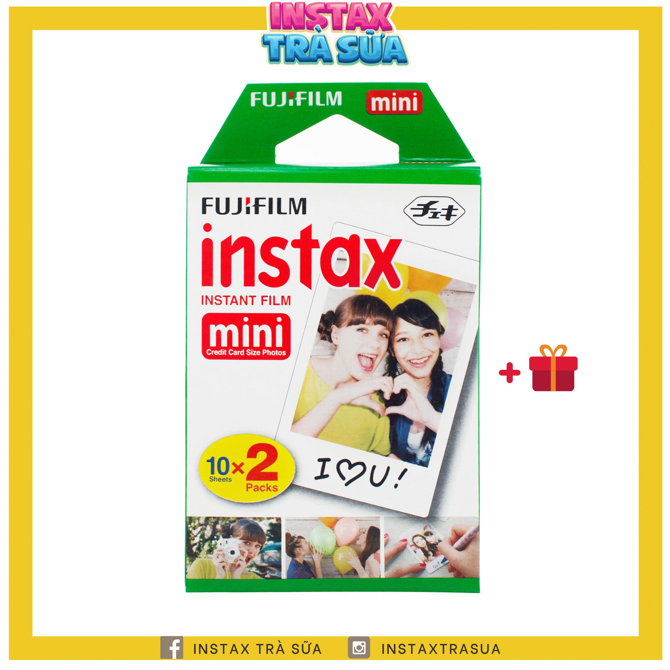 FILM INSTAX MINI – Viền Trắng – Giấy in cho máy ảnh lấy liền Fujifilm Instax Mini – Chính hãng Nhật DATE CA0 – Instax Trà Sữa